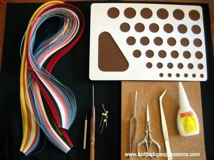 What you need to start. quilling - bottledupexpressions.com