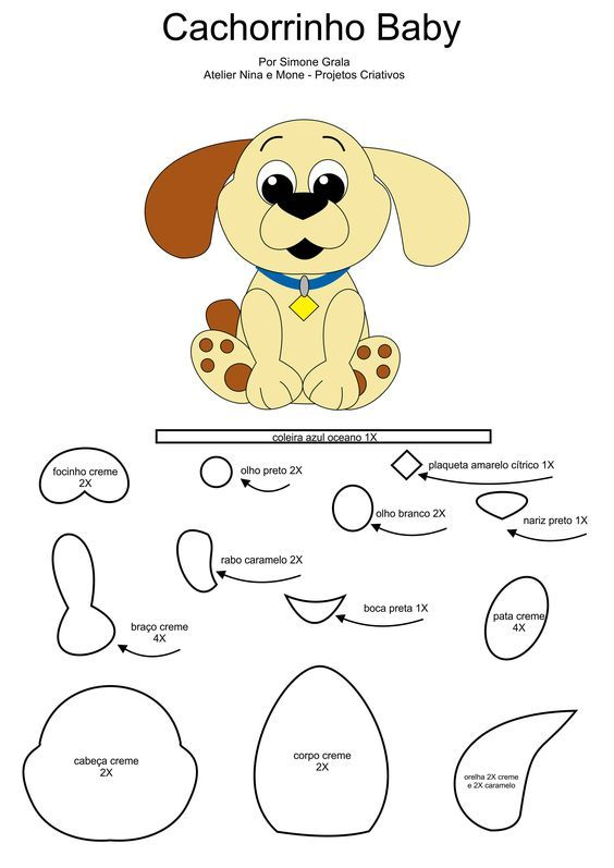 moldes para hacer un perrito de fieltro09 | Fieltro | Pinterest ...