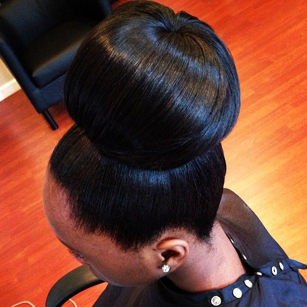 97 Best Flawless Hair Buns  Updos Images On Pinterest  Black Girls Hairstyles, Hair Dos And -6672