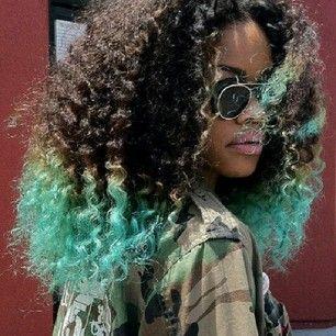 Algo teñido: | 29 tendencias creativas y coloridas para probar con tu cabello                                                                                                                                                      Mais
