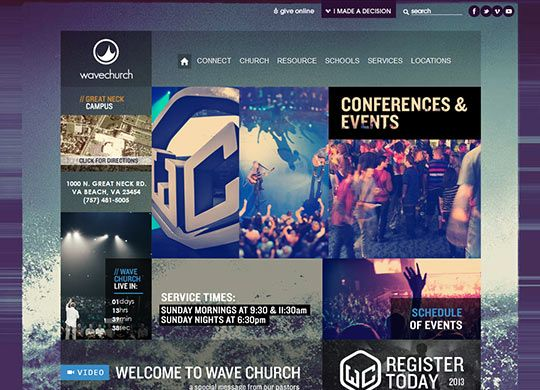 instantshift well designed church websites