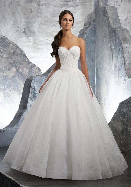 Blu by Morilee 5617 Kalinda Strapless Organza Ball Gown Wedding Dress
