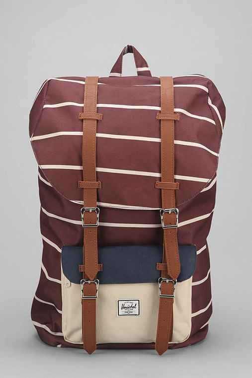 Hershel Supply Co. Little America Rust Stripe Backpack - Urban Outfitters