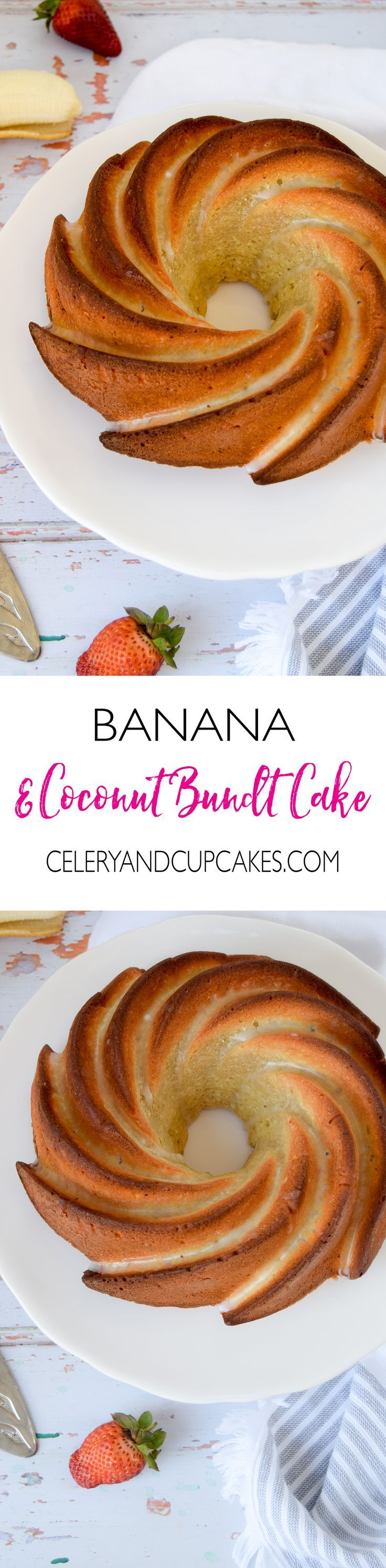 A deliciously fluffy and moist banana bundt cake that is spiked with lots of coconut, made using vanilla quark that is naturally low in fat and high in protein.