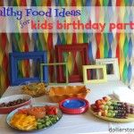 Healthy Recipes for Kids Birthday Parties! Love the streamers!!