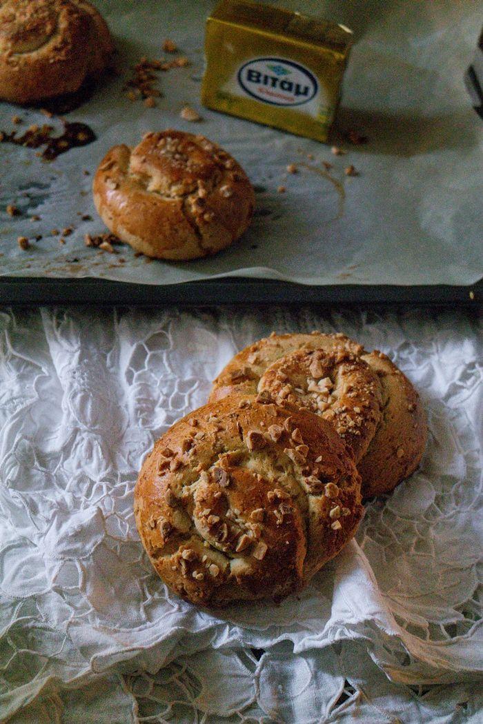 Orange Jam-swirled mastic mahlep bread (yeast free) - tkd #bread #vgfoodblogawards #sweet #mahlep #mastic