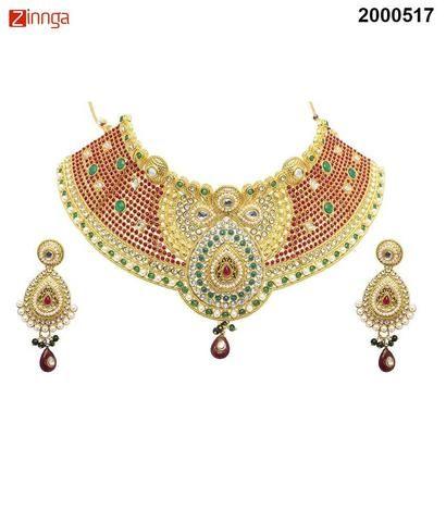 KRIAA-Women's Beautiful Zinc Alloy Necklace Set   - 2000517