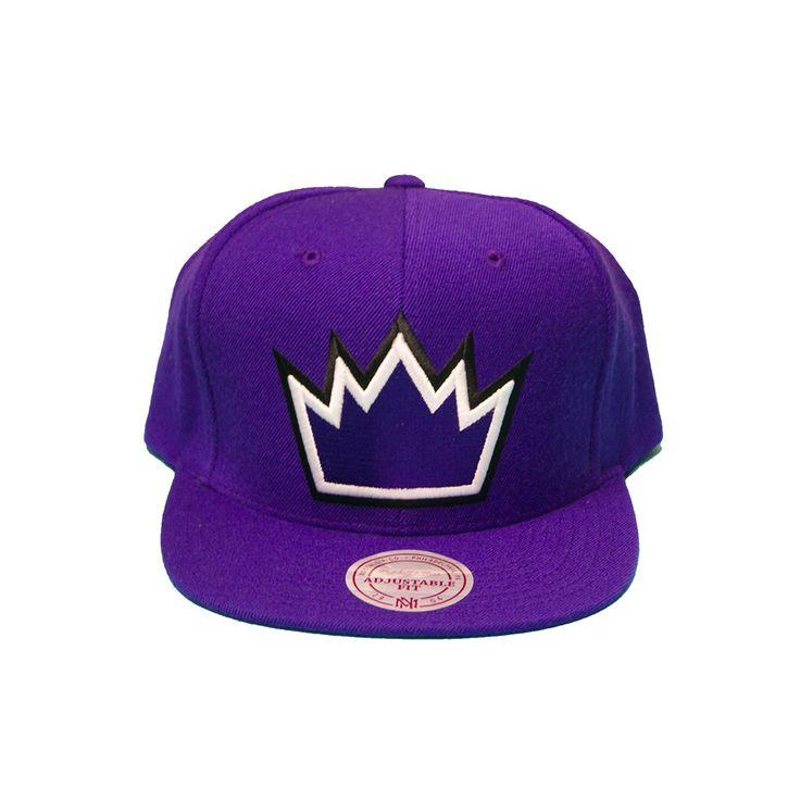 Nba Sacremento Kings Solid Snapback In Purple