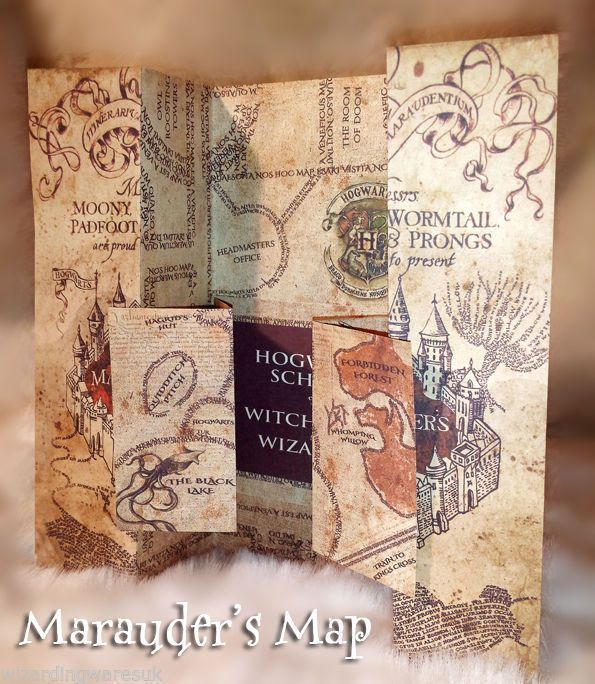 2016 Harry Potter Marauders Map of Hogwarts Castle Beautiful quality | Collectables, Fantasy/Myth/Magic, Harry Potter | eBay!