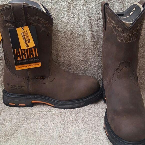 Men's ariat boots Men's ariat work hog boots. Composite toe. Brand new never wore size 8.5 D Ariat Shoes Combat & Moto Boots