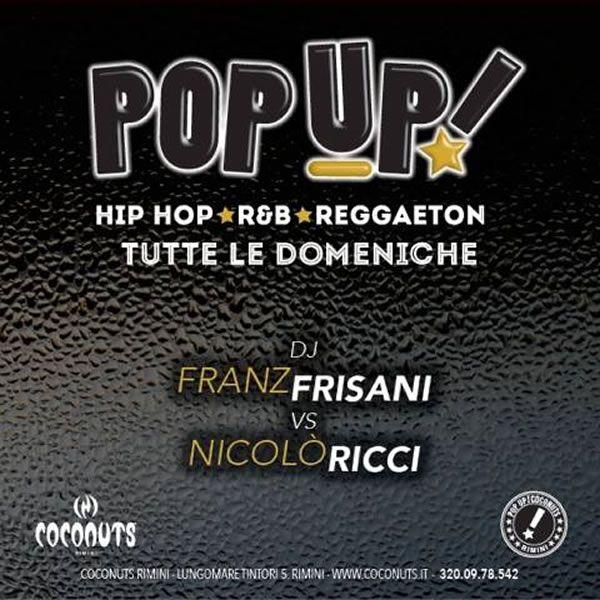 Anche la domenica si aggiunge alla ricchissimo programma settimanale del Coconuts Rimini. Una serata speciale dedicata alla musica Hip Hop, r&b e Reggeaton.