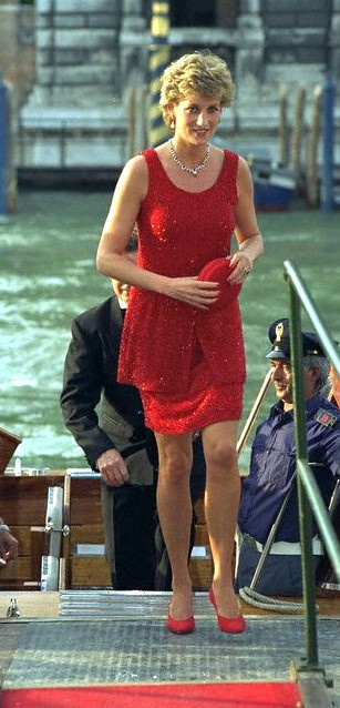 June 8, 1995: HRH Diana, Princess of Wales in Venice Italy.