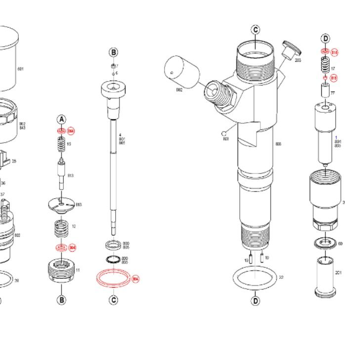 Common Rail Injector Rebuild 0 445 120 224 Fuel Injection System