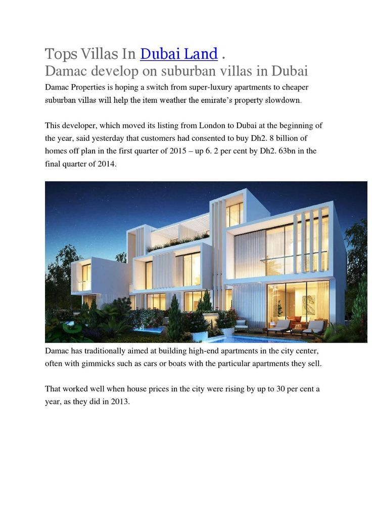 Tops villas in dubai land | Villas In DubaiLand
