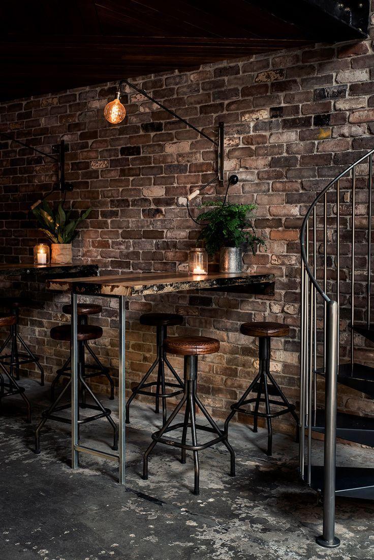 Industrial Decor Live Edge Table Exposed Conduit Brick Concrete