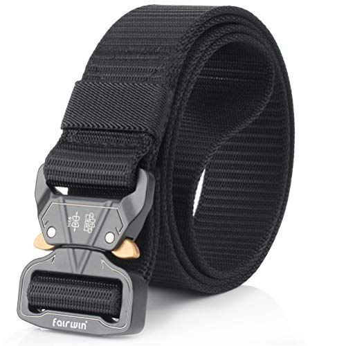 Military Style Webbing Riggers Web Belt Heavy-Duty Quick Fairwin Tactical Belt