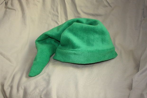 Picture of The Legend of Zelda: Link's Hat + Pattern — could probably use jersey cotton for this so long as it has some stretch to it like fleece does.