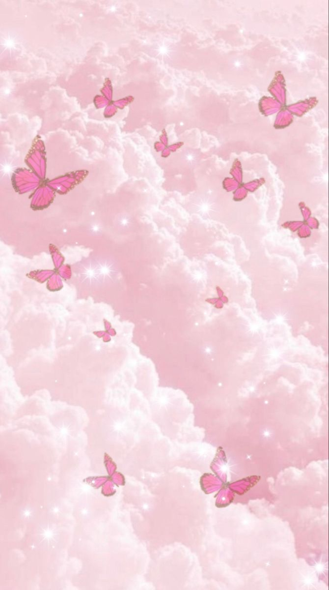 Cute Pink Background Butterfly Wallpaper Iphone Pink Wallpaper Girly Cute Pink Background