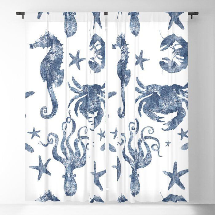 Invite The Sun Inside On Your Terms Our Blackout Window Curtains Are A Denser Alternative To Your Standard Win In 2020 Nautical Blue Nautical Marine Blackout Curtains