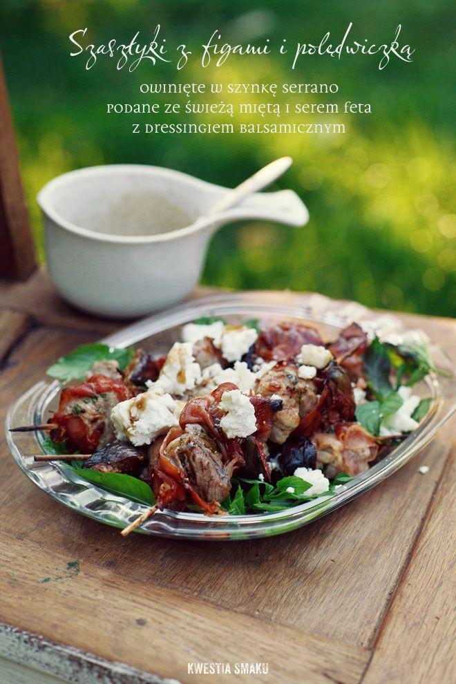 Szaszlyki z figami i poledwiczka wieprzowa