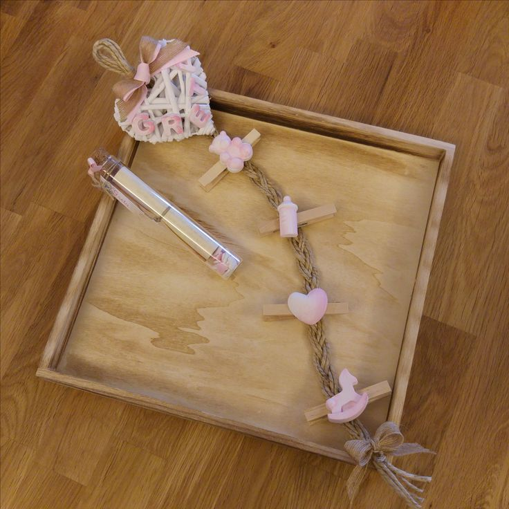 Treccia portato realizzata a mano da personalizzare con il nome del bambino #gessetti #nascita #battesimo #handmade #fattoamano