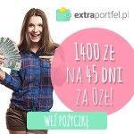 W niniejszym artykule przeanalizujemy i ocenimy pożyczkę chwilówkę w firmie ExtraPortfel. ExtraPortfel udziela szybkich pożyczek online od 100 do 3500 zł na okres do 45 dni, z minimum formalności, szybką decyzja i przelewem. Firma oferuje nowym Klientom pierwszą pożyczkę gratis do kwoty