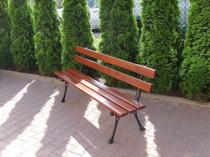 Ławka Klasyczna parkowa ogrodowa ŻELIWNA GRUBE DES
