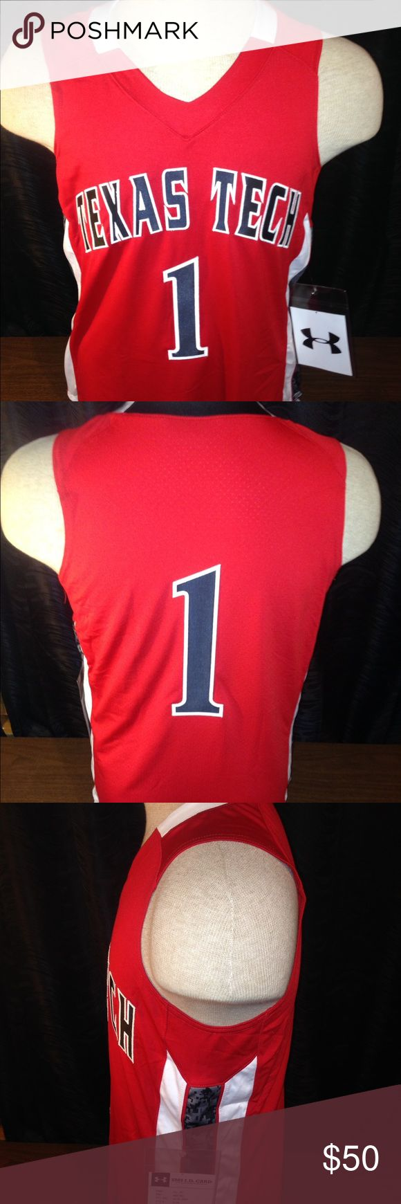 """NWT Texas Tech basketball jersey New with tags. Approximate measurements are: armpit to armpit: 19"""" back of collar to bottom of jersey: 28"""" Nike Other"""
