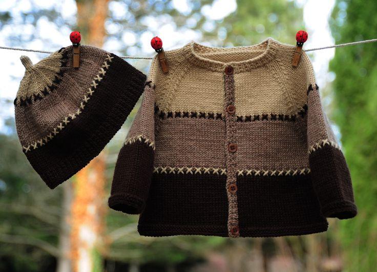 layette ensemble 3 mois brassière et bonnet tricotés main
