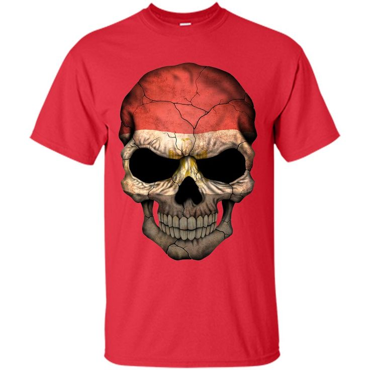 Egyptian Flag Skull Egypt T-Shirt