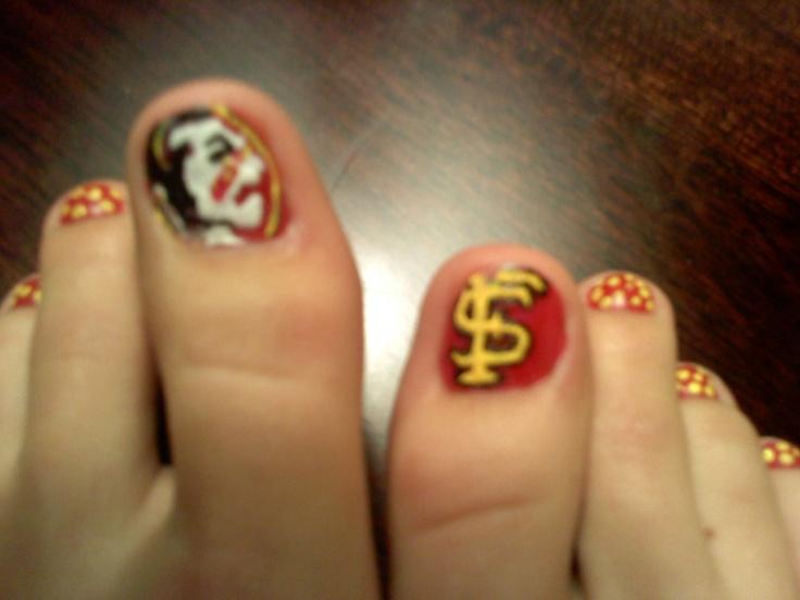 fsu nails: Fsu Nails Art, Fsu Nail Designs, Hair Make Up Nails, Heart Fsu, Fsu Nail Art, Nails Nailart, Finger Nails, Fabulous Fingernails, Fsu Nails Designs