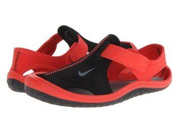 Nike Sunray Proteggere bambini Sandali Nero / Light Crimson / Cool Grigio