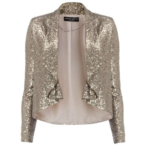 Silver Sequin Jacket from Dorthy Perkins   Chictopia Community Faves  ... ❤ liked on Polyvore featuring outerwear, jackets, silver sequin jacket, chictopia, sequin jacket, brown jacket and silver jacket