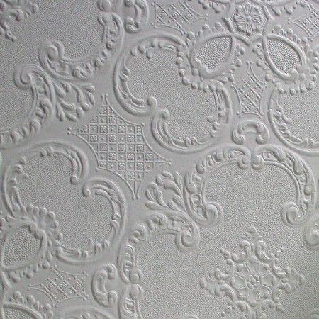 Anaglypta Wallpaper Alfred - White - Wallpaper - Traditional - Wallpaper & Decor