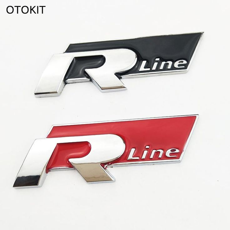 Cool 3D Metal Car Sticker R Line Vehicle Logo Sport Car Cover for VW Golf 6 CC Scirocco SUV