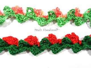 Tina's handicraft : crochet trimmings with flowers