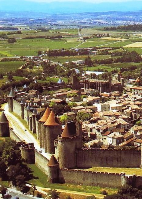 Carcassonne, France - try to go for Bastille Day when they literally light the city walls on fire with fireworks