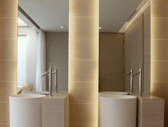 17 best Decoración de Baños images on Pinterest Bathroom, Guest - spiegel badezimmer mit beleuchtung
