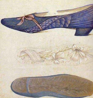Edward Burne-Jones - Study of Shoes (1877) pre-raphaelite
