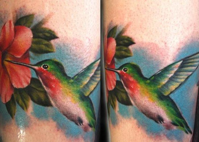 Realistic hummingbird tattoo designs hummingbird tattoos for Realistic bird tattoo