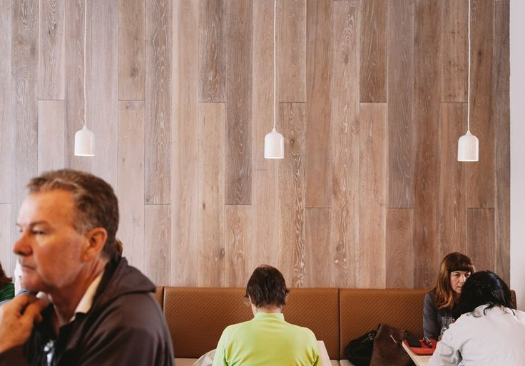"""Tongue N Groove """"Sepia"""" European oak boards featured at Hello Sailor Cafe, Hawthorn Melbourne. Designed by Eades and Bergman interior Design - www.tonguengroove..."""