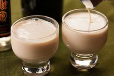 This cocktail recipe is a creamy mix of Baileys Irish Cream, Rumple Minze peppermint schnapps, and heavy cream.