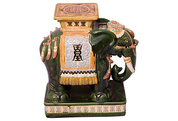 Ceramic Elephant  ash tray.  Things that I will sell.