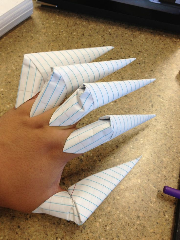 How to Make Paper Claws - My boys would LOVE these!