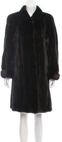 Fur Mink Knee-Length Coat