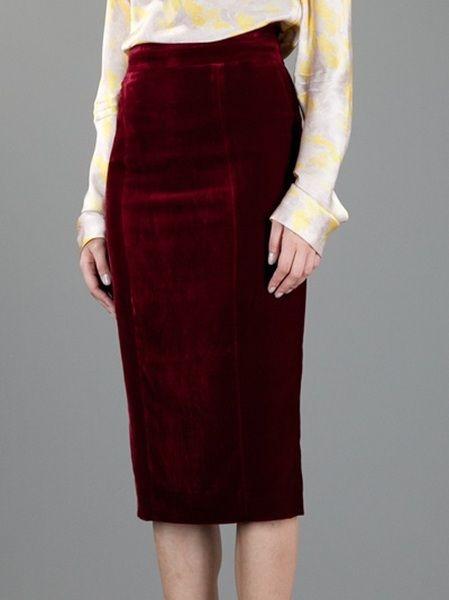9 best Pencil skirt Velvet images on Pinterest