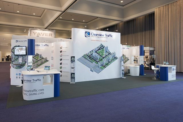 Spacious Trade show Display Stand for Clearview traffic during its participation in  Intertraffic Event at Amsterdam. Know about our Products and Services at http://www.expodisplayservice.ae/allproducts.asp