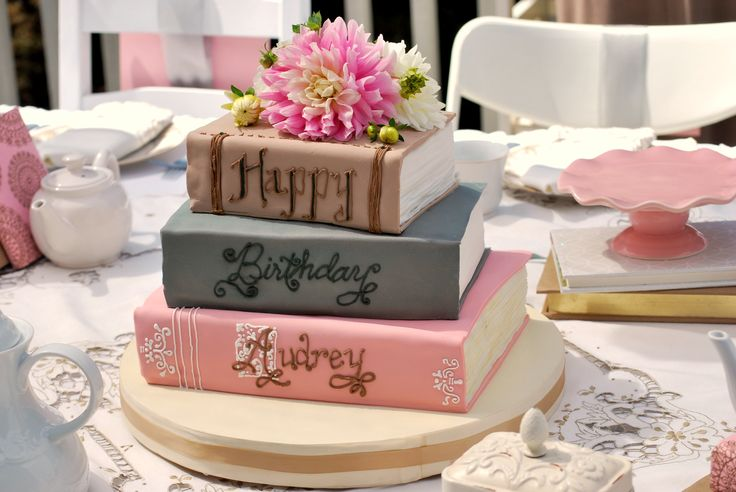 I love the idea of a Book Cake. Maybe I'm a little obsessed with books, but I love it!