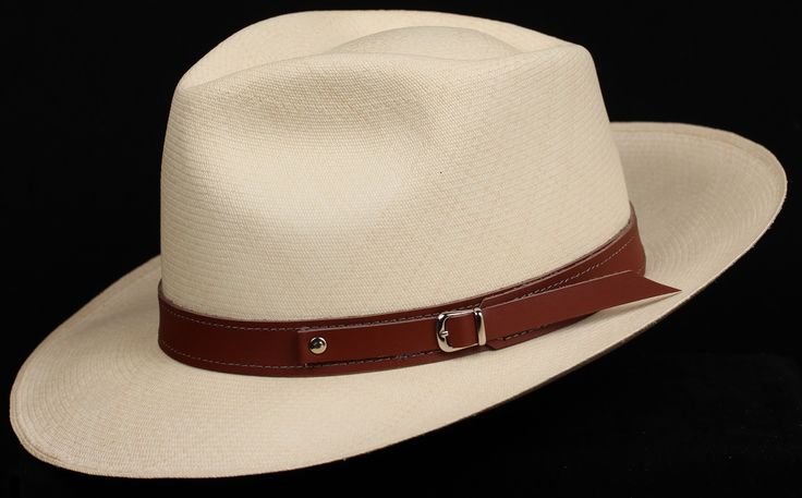 Brown 1 inch Leather hat band