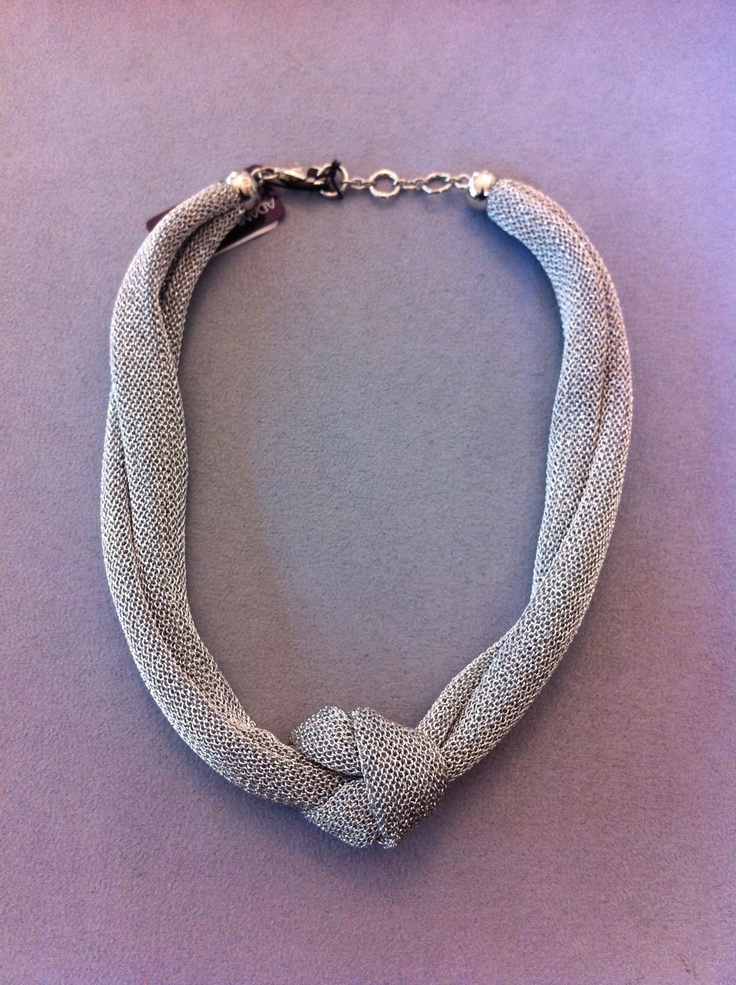 necklace and silver metallic fabric. very light and soft  €78